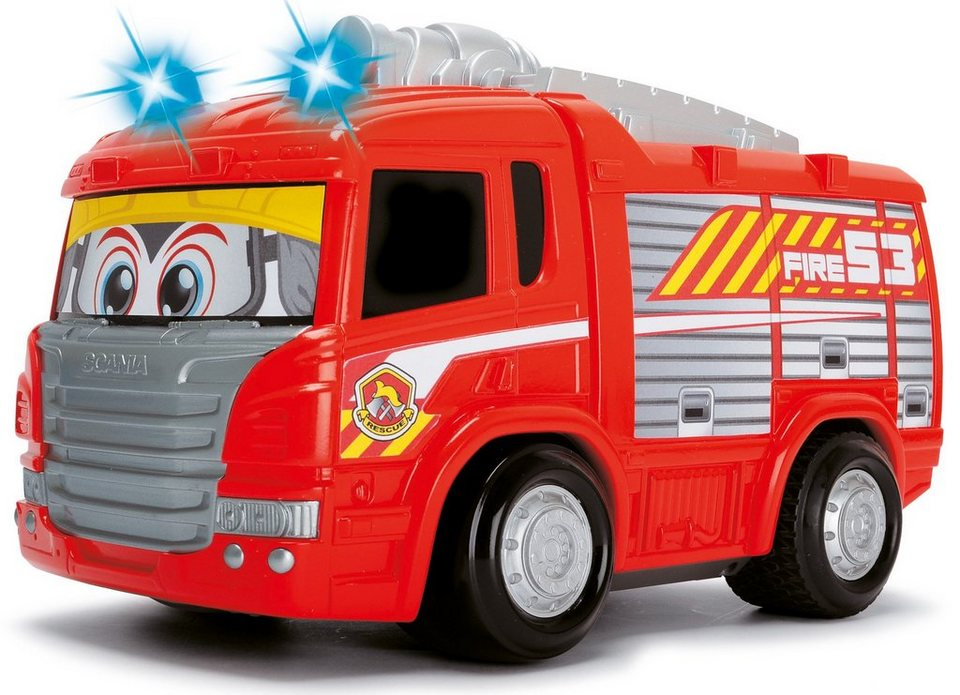 dickie toys rc feuerwehrauto mit licht und sound happy scania fire engine online kaufen otto. Black Bedroom Furniture Sets. Home Design Ideas