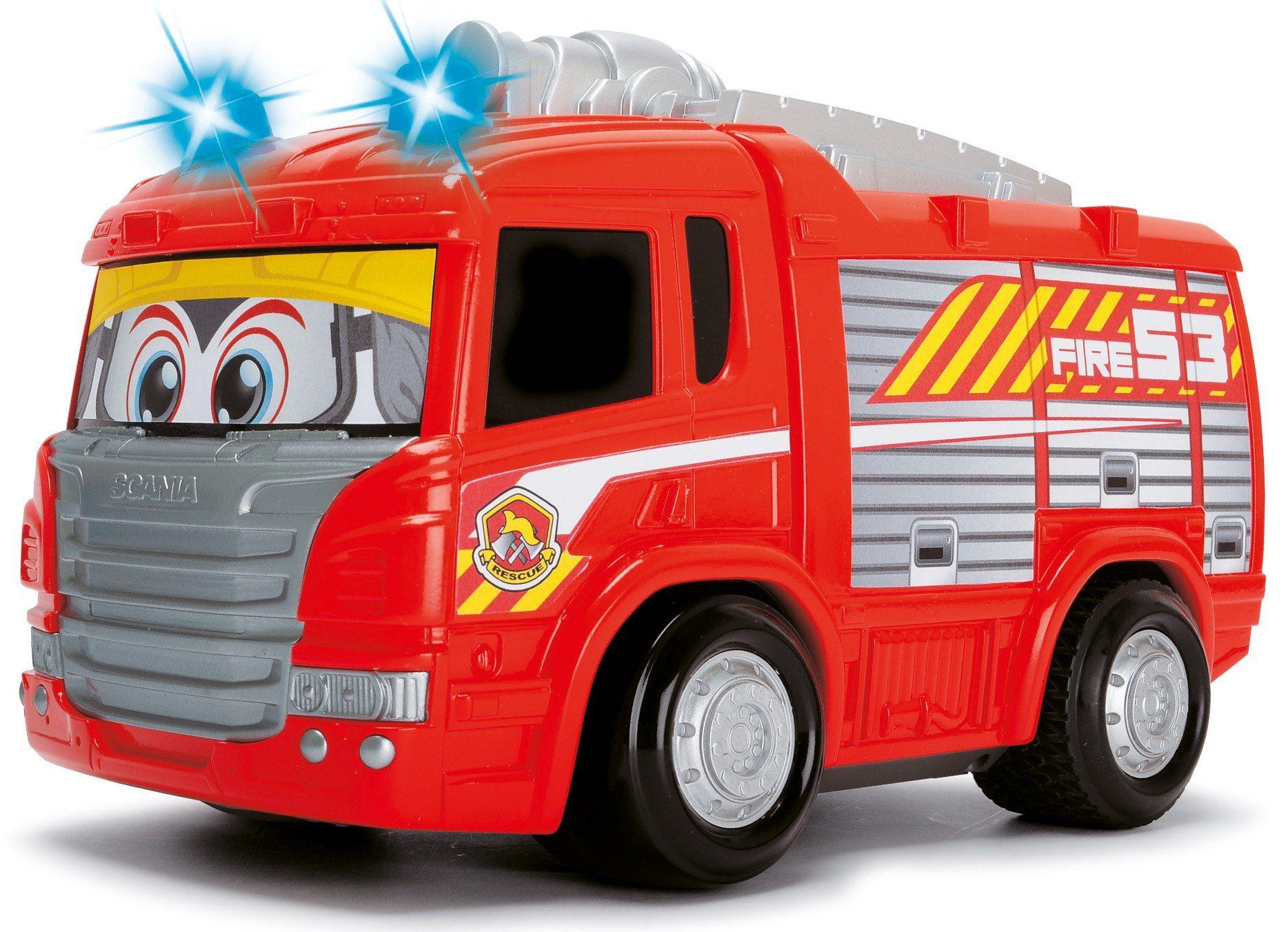Dickie Toys RC Feuerwehrauto mit Licht und Sound, »Happy Scania Fire Engine«