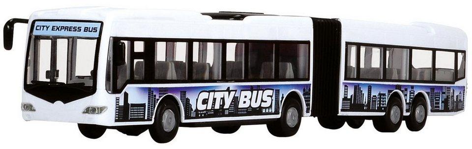 Dickie Toys Spielzeugbus, »City Express Bus, weiß« in weiß