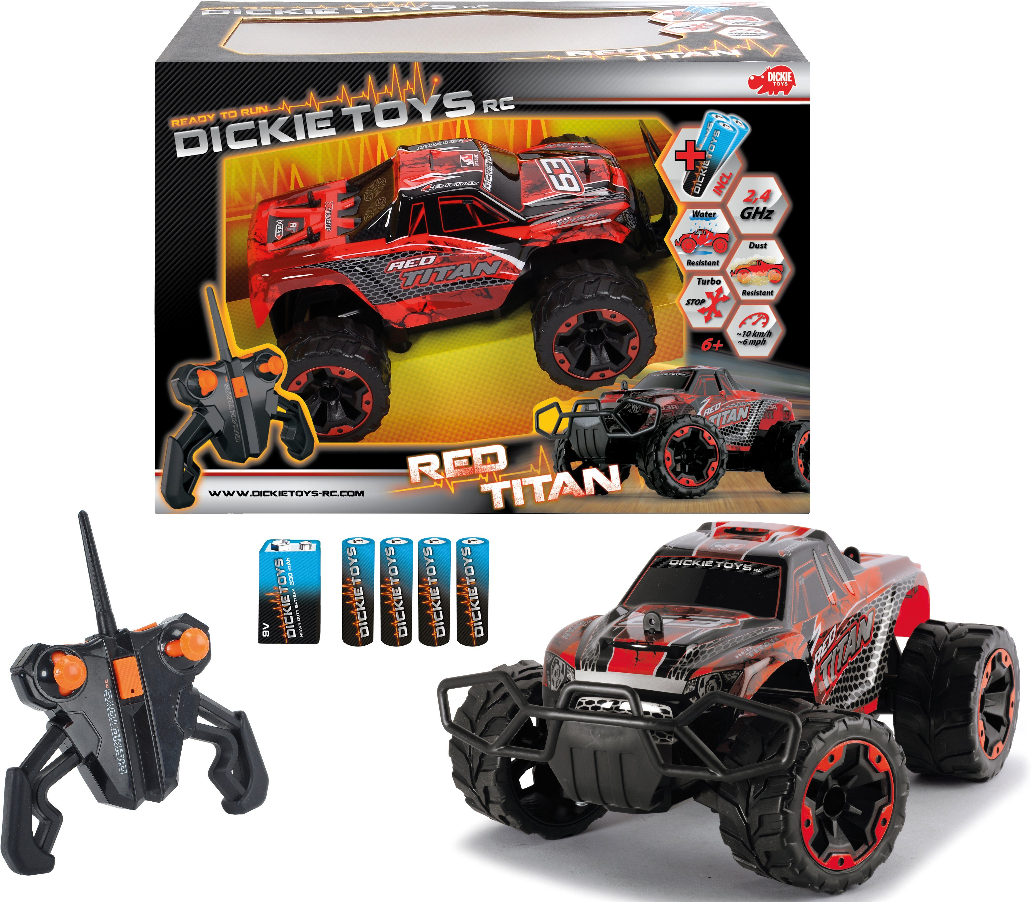 Dickie Toys RC Komplett Set, »Red Titan 2,4 GHz 1:16«