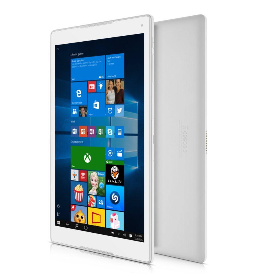Alcatel Tablet mit Tastatur »Plus 10 25,65 cm Windows 10 Tablet LTE« in Silber-Weiß
