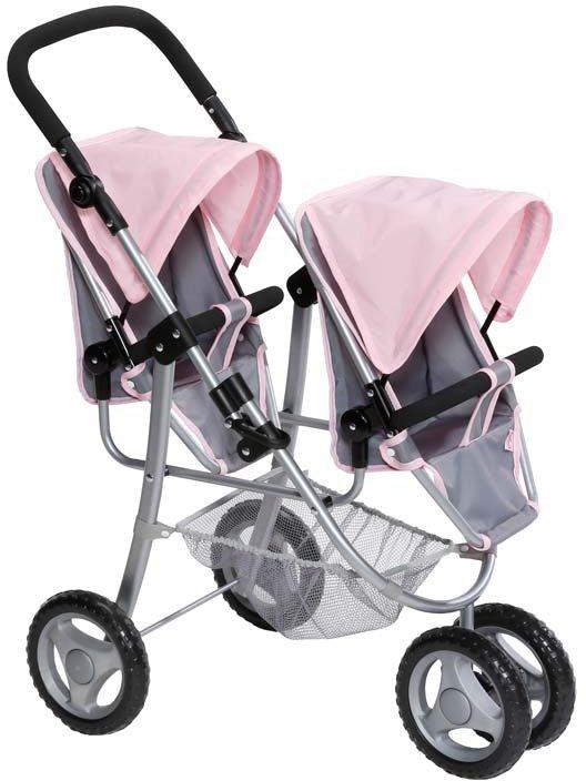 Zapf Creation Puppenwagen, »BABY born® Zwillingspuppenwagen« in rosa