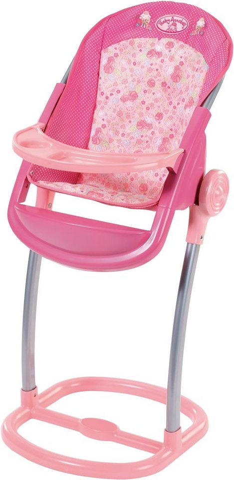 Zapf Creation Puppenhochstuhl mit Fußstütze, »Baby Annabell® Hochstuhl« in rosa