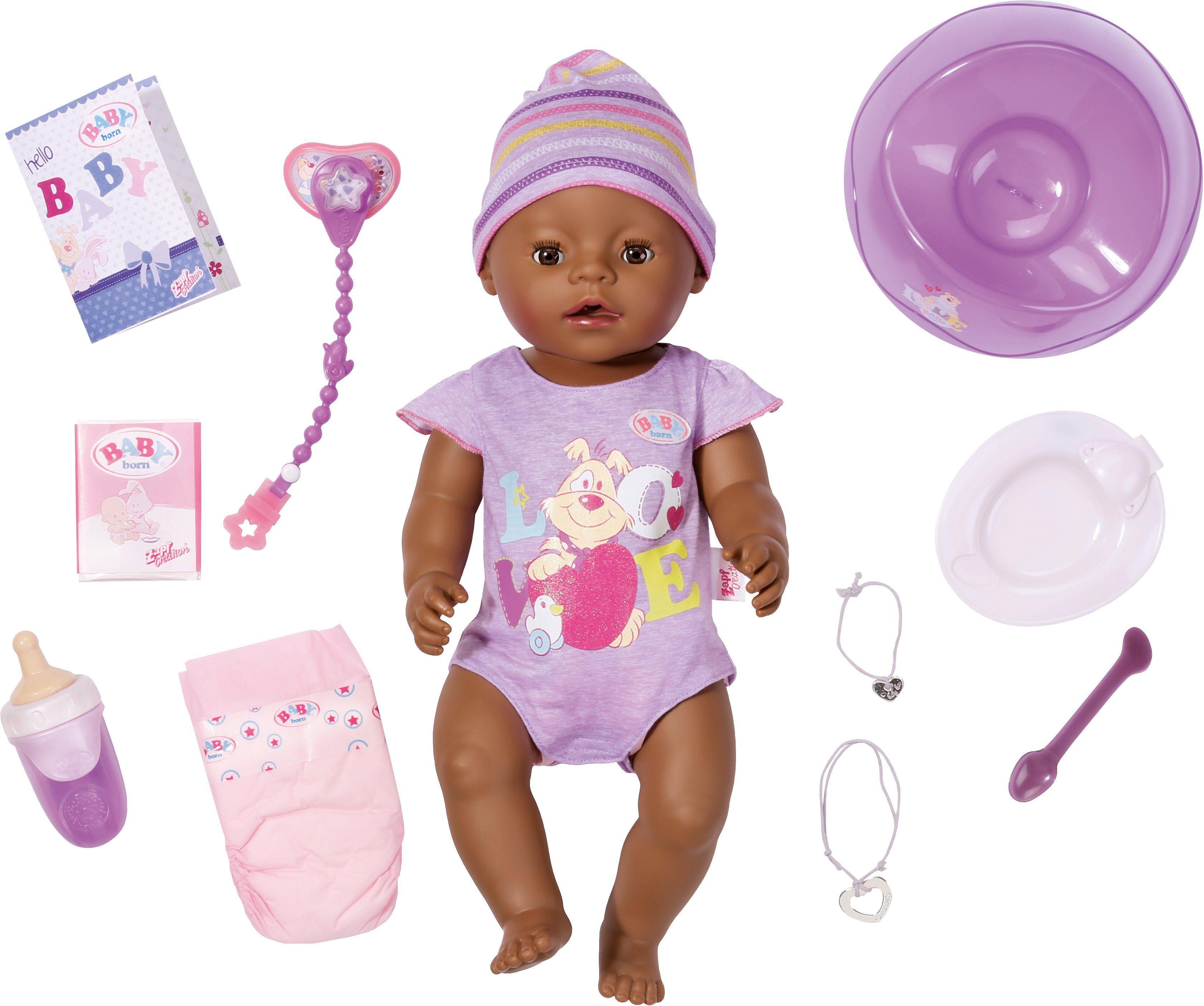 Zapf Creation Interaktive Babypuppe, »BABY born® Interactive Ethnic«