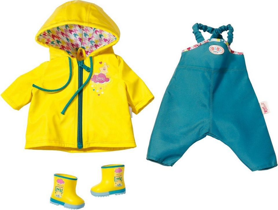 Zapf Creation Puppenkleidung passend für Größe 43 cm, »BABY born® Happy Birthday Rain Fun Set«