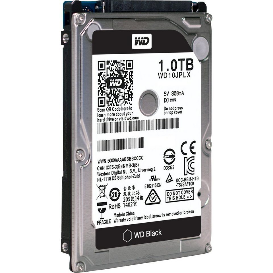 Western Digital Festplatte »WD10JPLX Black 1 TB«