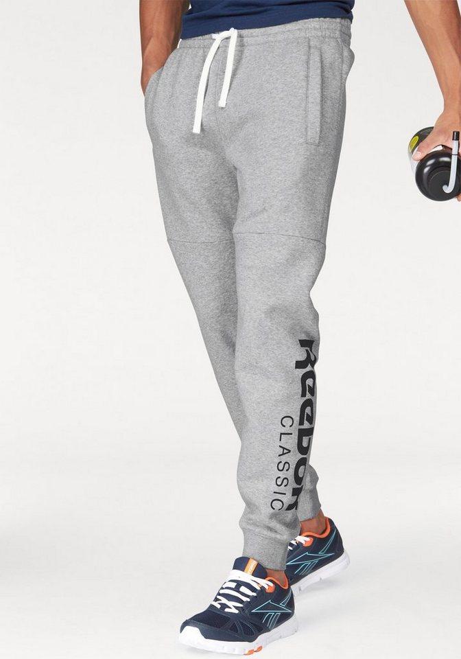 Reebok Jogginghose »Fleece Pant« in grau-meliert