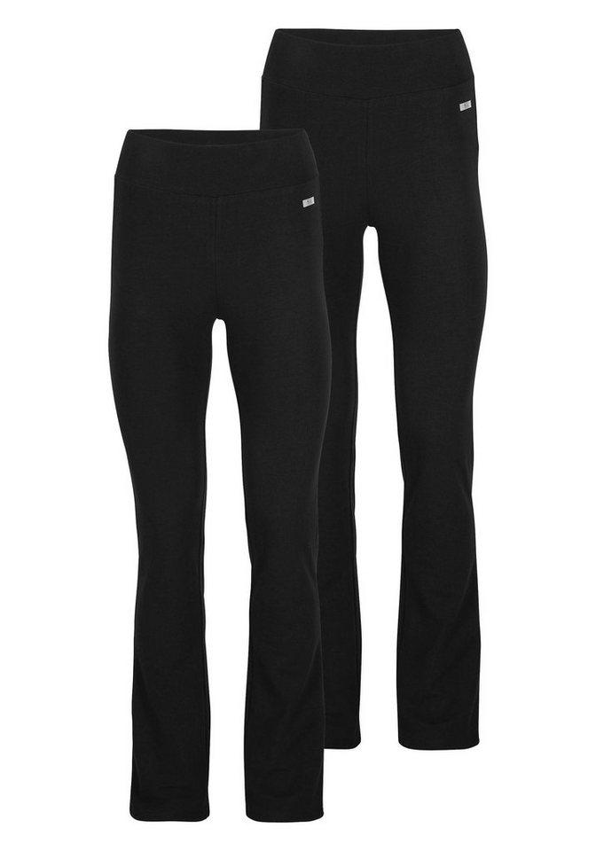 H.I.S Jazzpants (Packung, 2er-Pack) in schwarz+schwarz