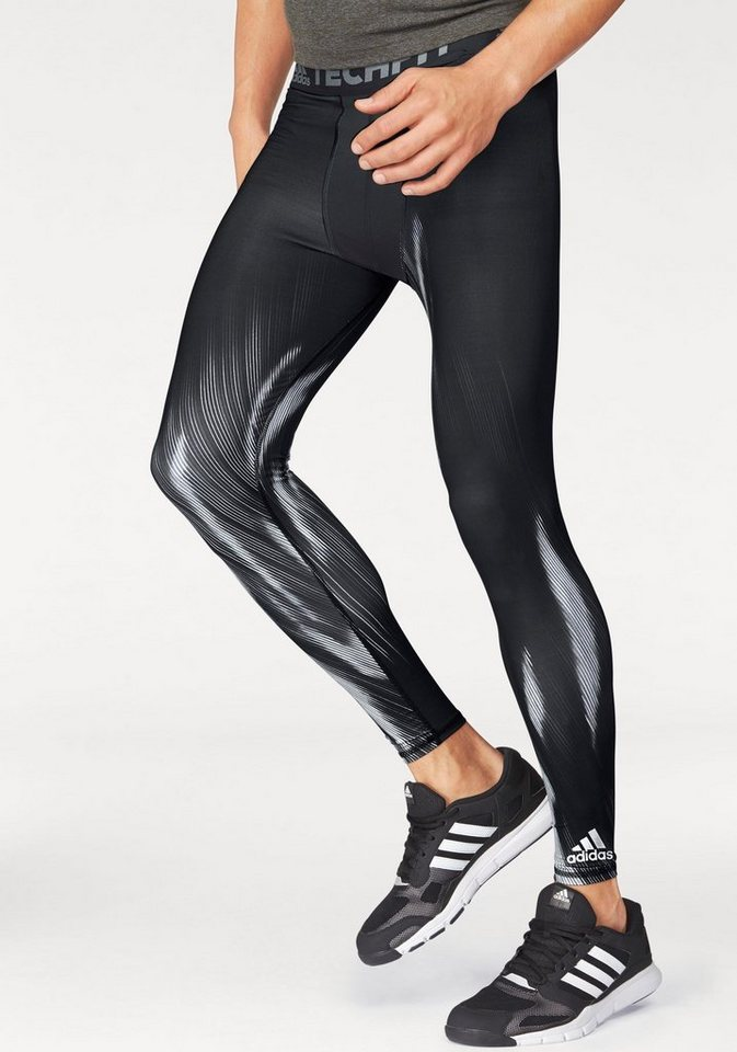 adidas Performance Funktionstights »TECHFIT BASE GRAPHIC LONG TIGHTS« in schwarz
