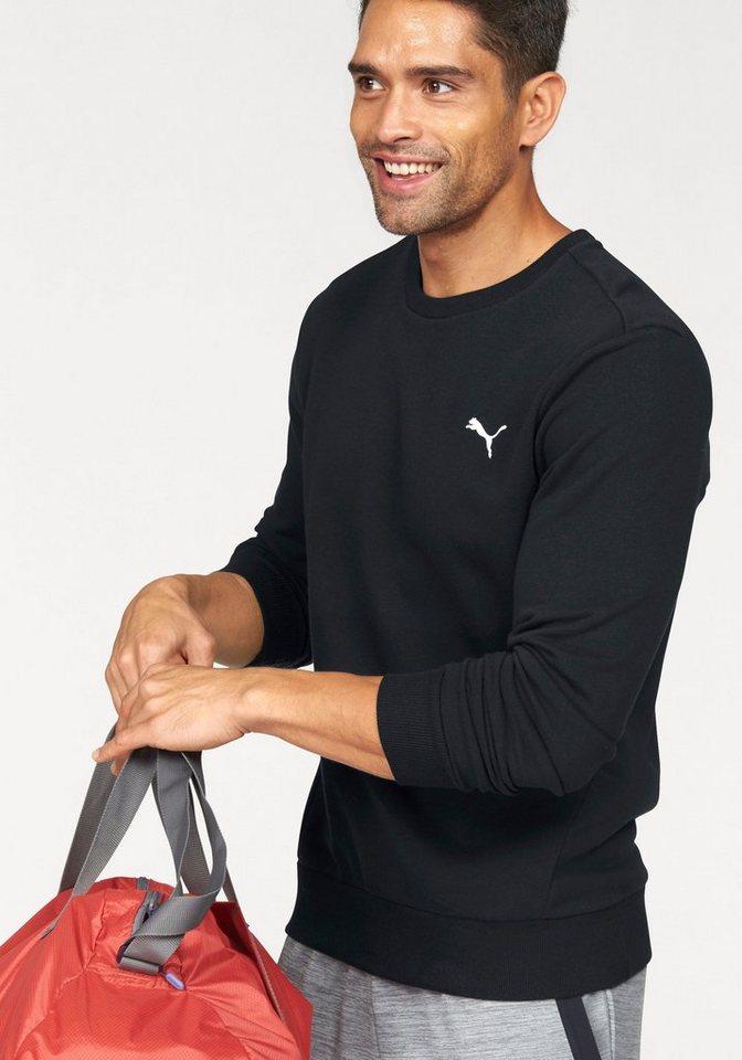 PUMA Sweatshirt »ESS CREW SWEAT TR« in schwarz