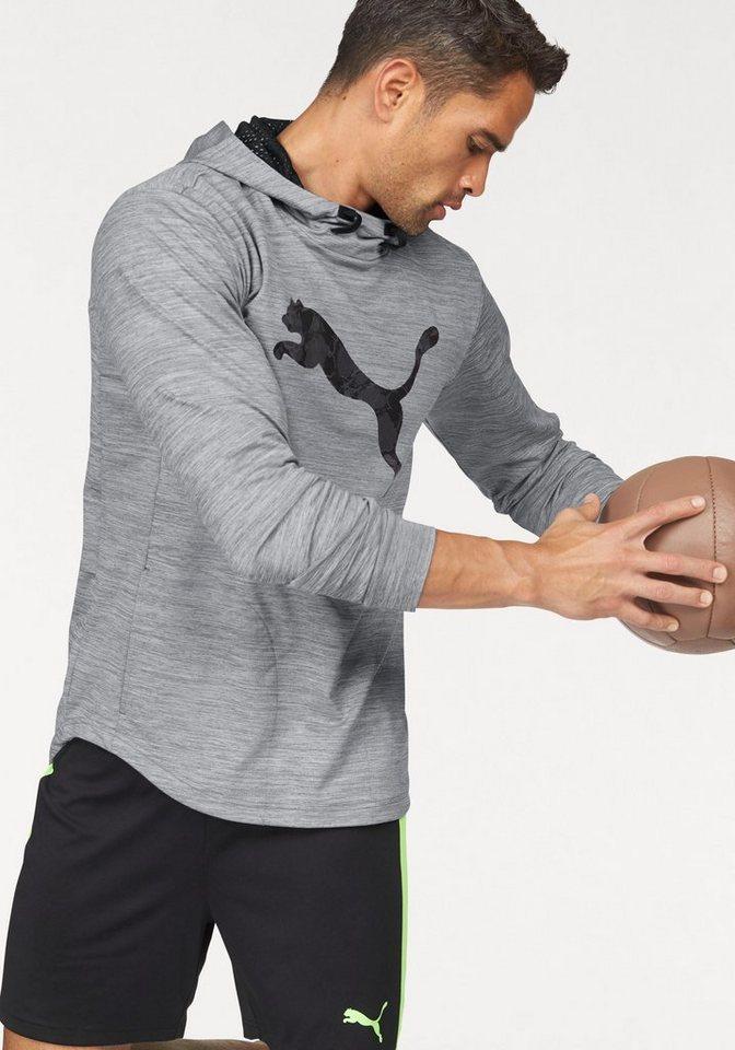 PUMA Kapuzensweatshirt »TECH FLEECE HOODIE« in grau-meliert