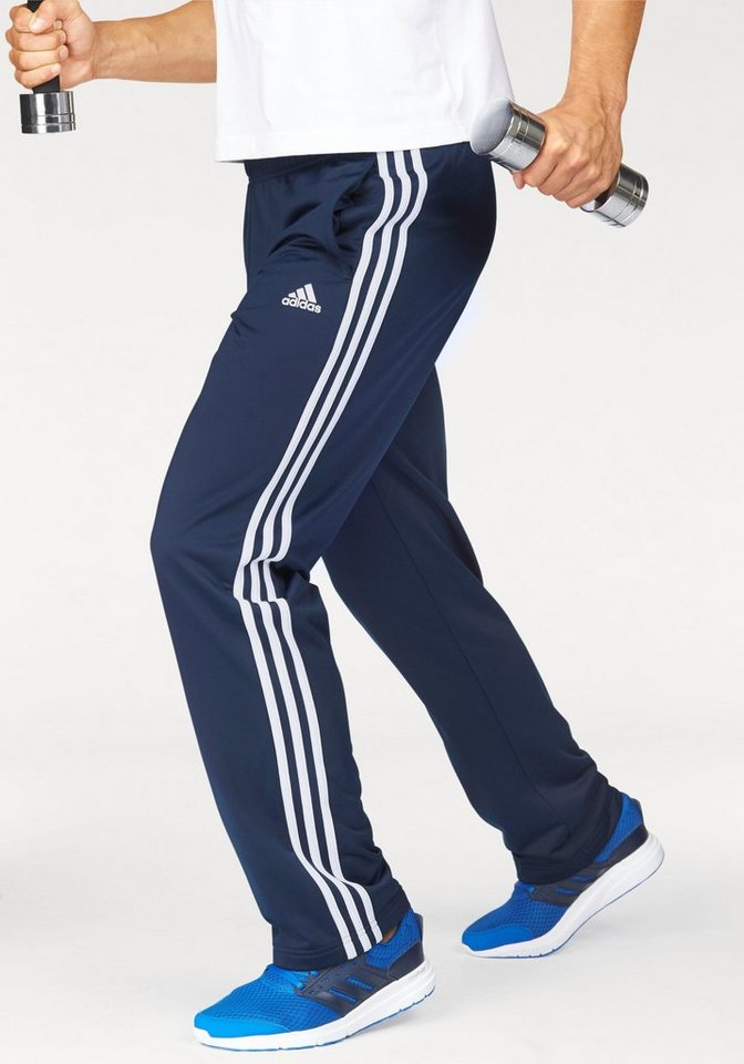adidas Performance Trainingshose »ESSENTIALS 3S REGULAR FIT TRICOT PANT« in marine-weiß