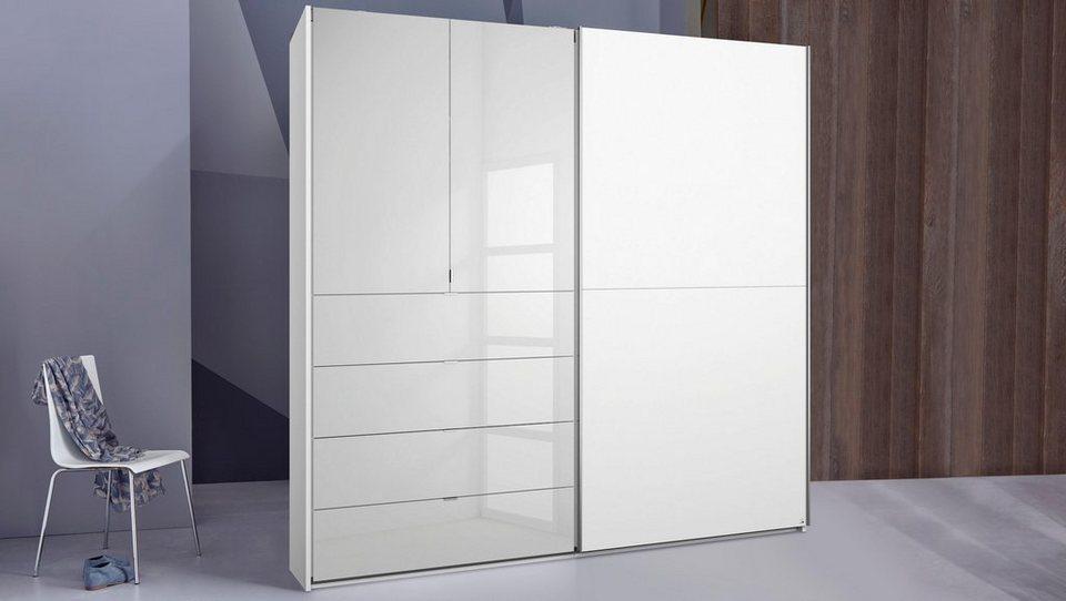 INOSIGN Schwebetürenschrank mit Spiegelfront in weiß