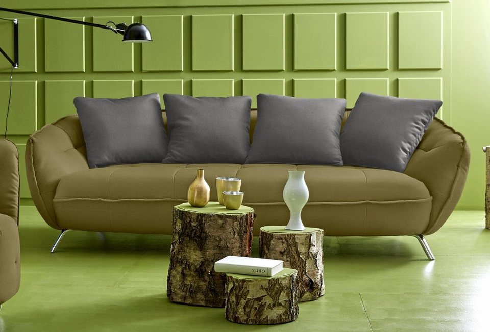 INOSIGN Big-Sofa in kiwi/grau