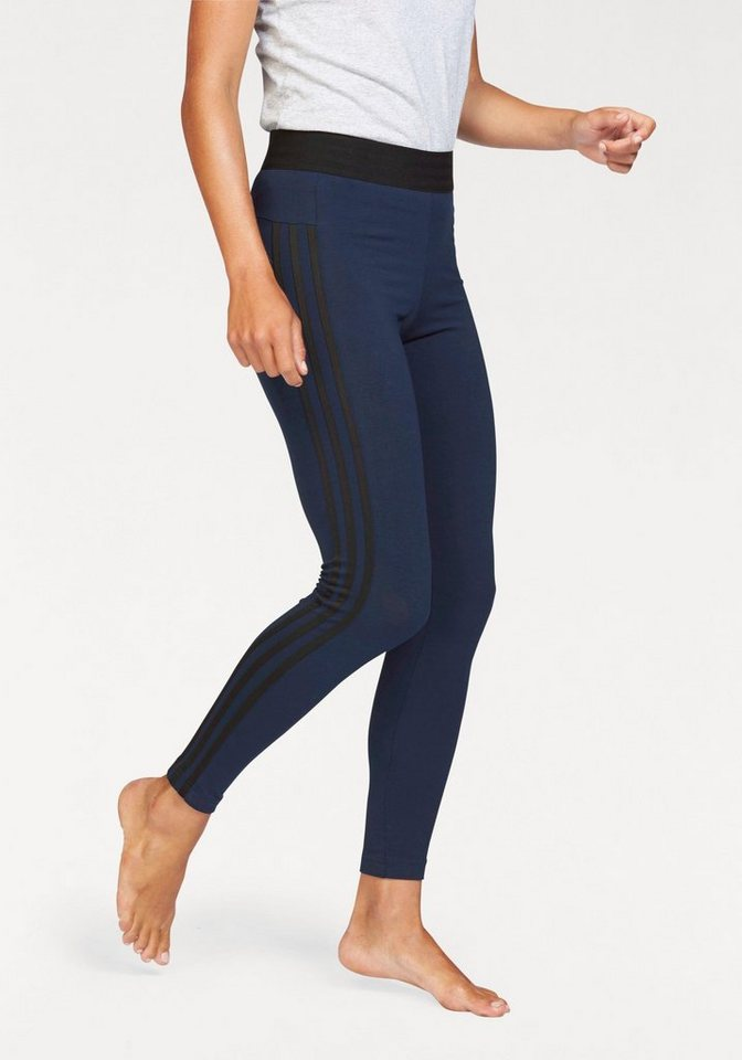 adidas Performance Leggings »ESSENTIALS 3 STRIPES TIGHT« in marine-schwarz