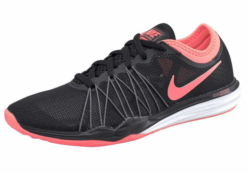 Nike »Dual Fusion TR Hit Wmns« Fitnessschuh in schwarz-koralle