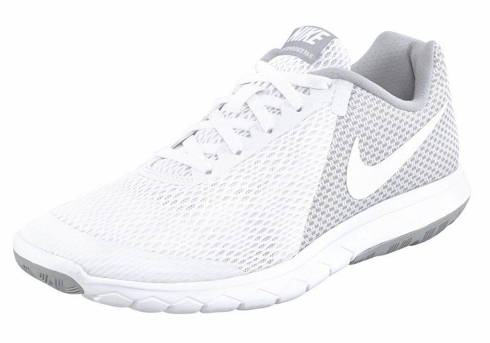 Nike »Wmns Flex Experience RN 6« Laufschuh in hellgrau-weiß