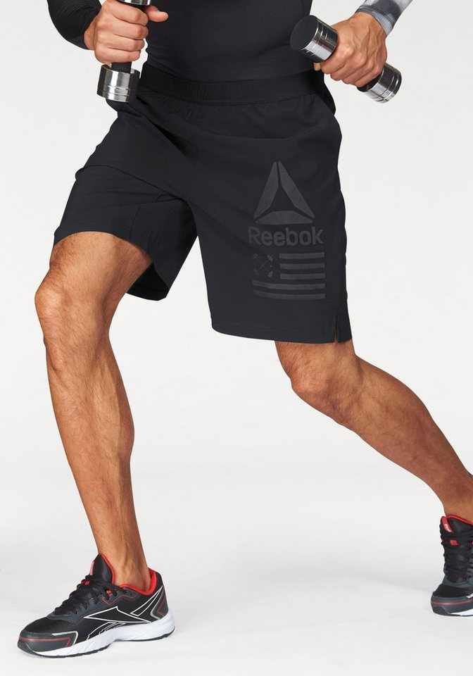 Reebok Funktionsshorts »SPEED SHORT« in schwarz