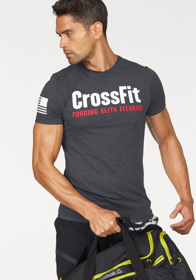 Reebok T-Shirt »CROSSFIT FORGING ELITE FITNESS TEE« in anthrazit