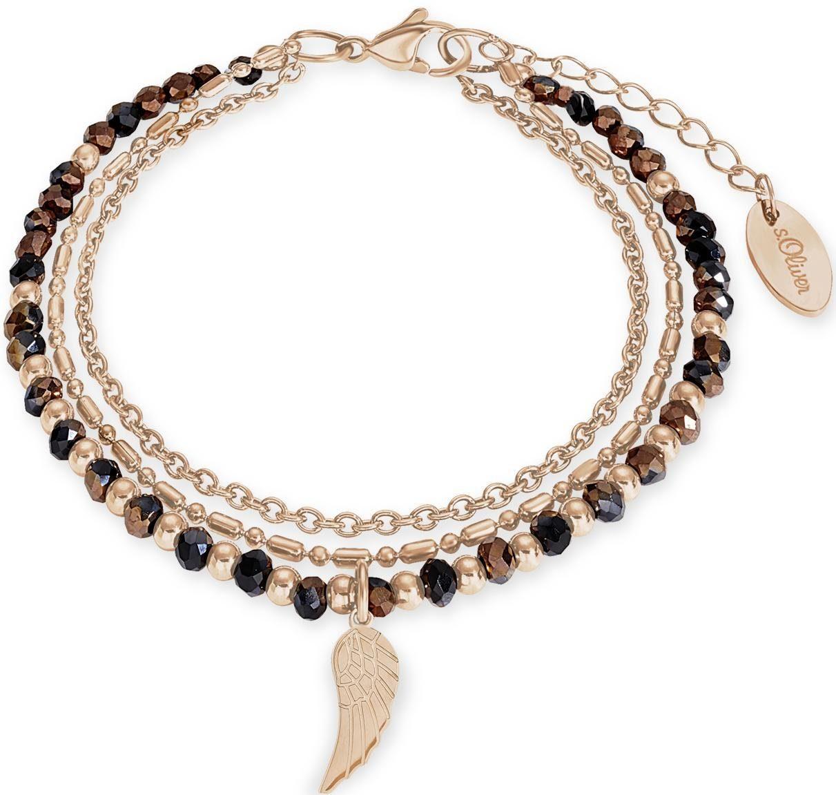 s.Oliver RED LABEL Armband »Flügel, 2012537« mit Glassteinen