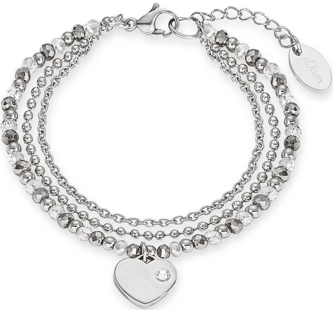 s.Oliver RED LABEL Armband »Herz, 2012530« mit Glassteinen