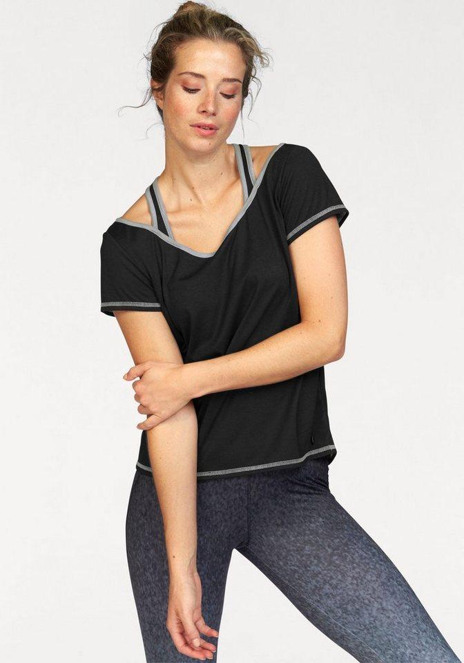 Ocean Sportswear Yogashirt mit raffiniertem Rückenausschnitt in schwarz