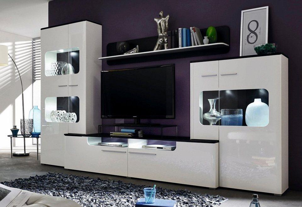 ... Wohnwand Weiss Hochglanz Otto Home Design Inspiration Und Mobel Ideen  Nizza Weisse Wohnwande Konzept ...