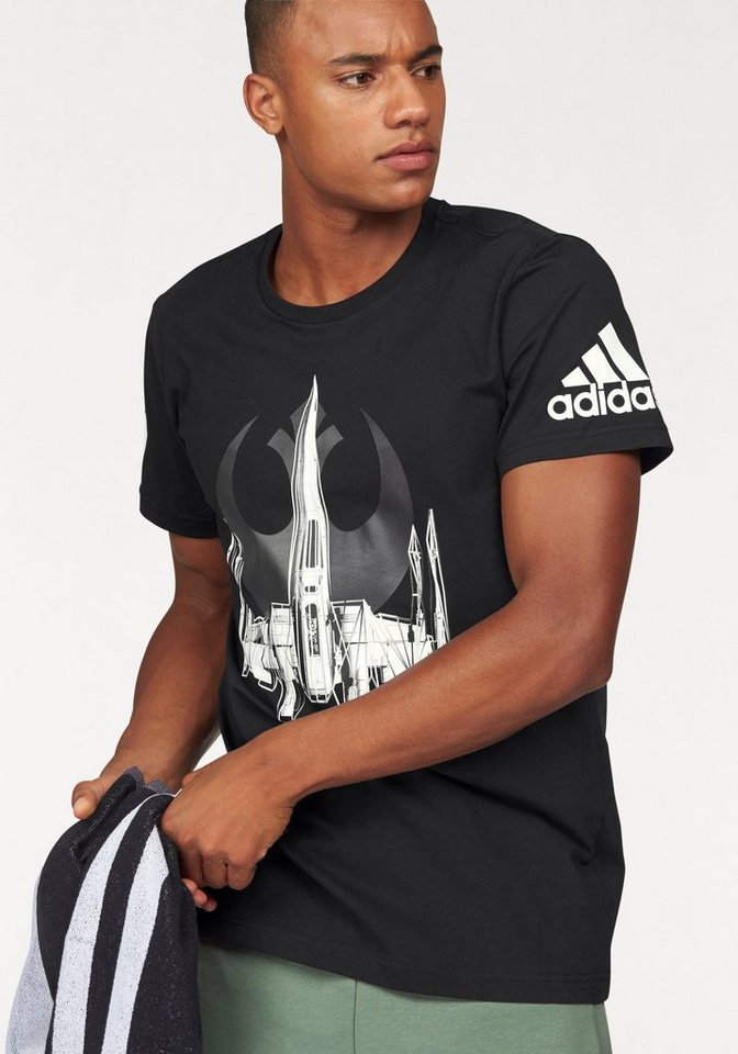 adidas Performance T-Shirt »X-WING« in schwarz