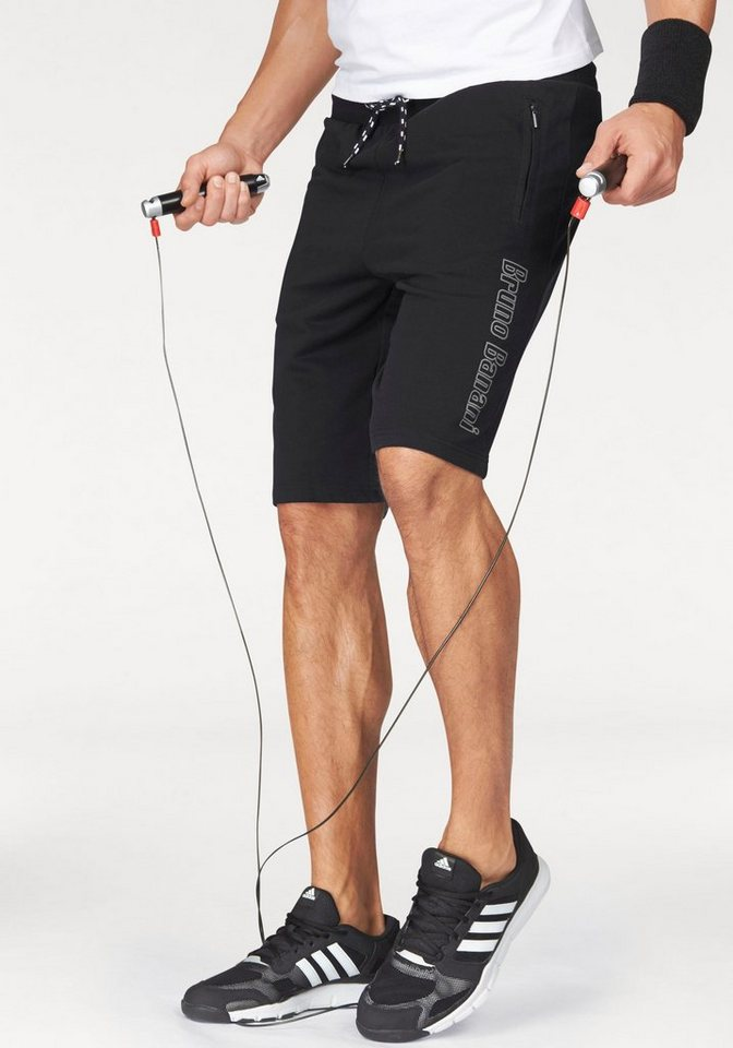 Bruno Banani Sweatshorts in schwarz
