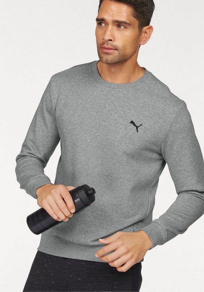 PUMA Sweatshirt »ESS CREW SWEAT TR« in grau-meliert