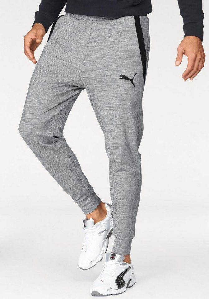 PUMA Sporthose »TECH FLEECE TRACKSTER« in grau-meliert
