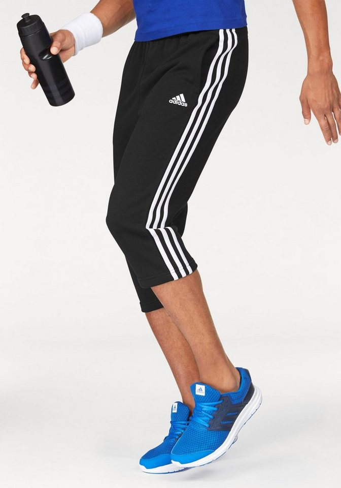 adidas Performance 3/4-Hose »ESSENTIALS 3S 3/4 FRENCH TERRY PANT« in schwarz-weiß
