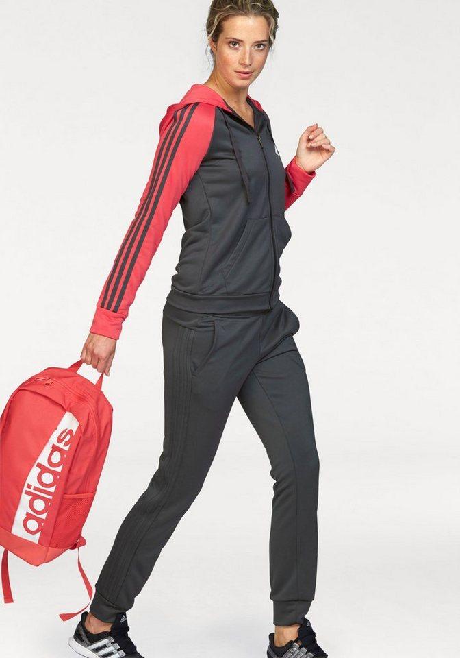 adidas Performance Trainingsanzug »RETRO FOCUS TRACKSUIT« in grau-koralle