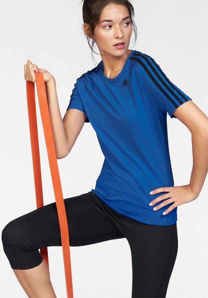 adidas Performance Funktionsshirt »D2M TEE 3S« mit reflektierenden Details in blau-schwarz