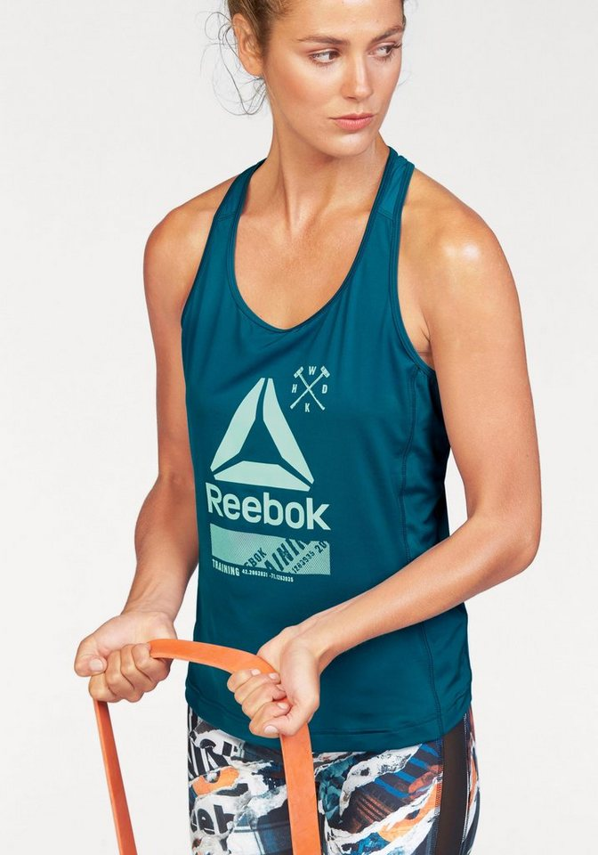 Reebok Funktionstop »ACTIVCHILL GRAPHIC TANK« in petrol