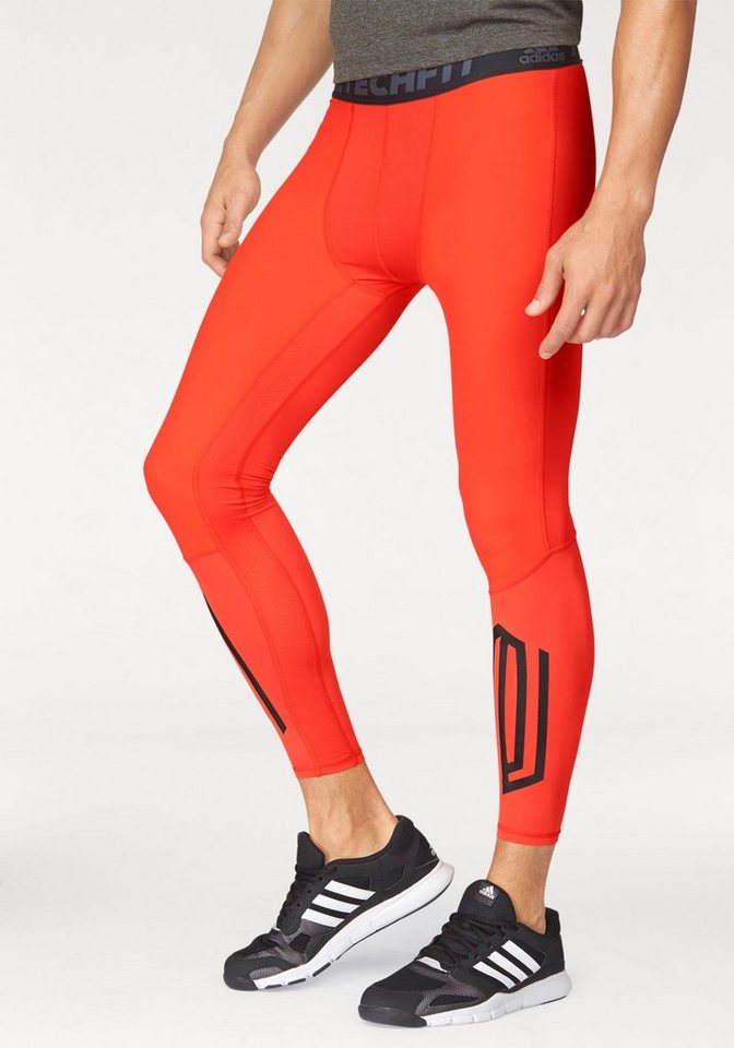 adidas Performance Funktionstights »TECHFIT TOUGH LONG TIGHTS« in orange