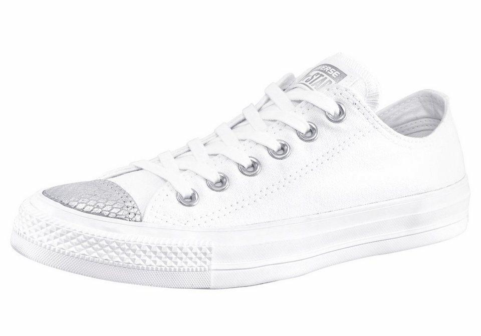Converse »Chuck Taylor All Star Metallic Toecap Ox« Sneaker in weiß-silberfarben