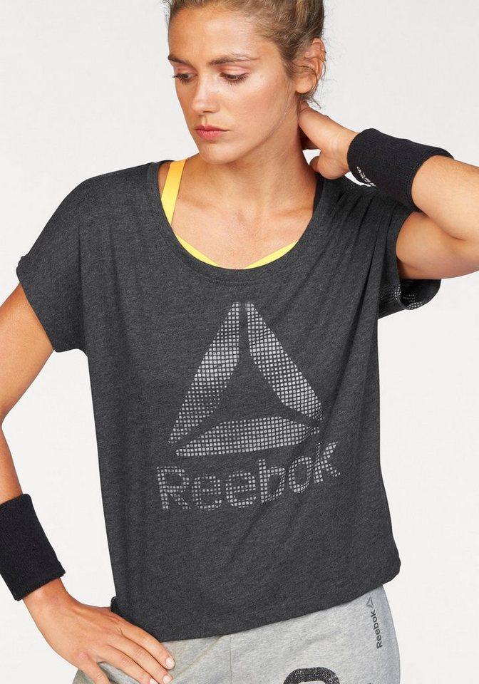 Reebok T-Shirt »CAMO BURNOUT TEE« in schwarz