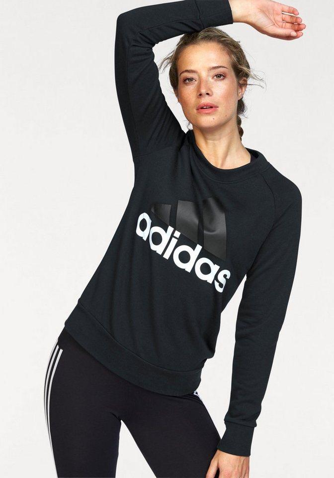 adidas performance sweatshirt essentials linear crewneck. Black Bedroom Furniture Sets. Home Design Ideas