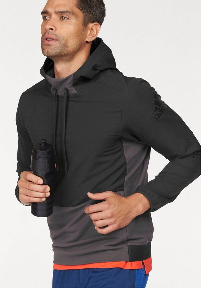 adidas Performance Langarmshirt »EXTREME WORKOUT OVER THE HEAD« in schwarz-grau
