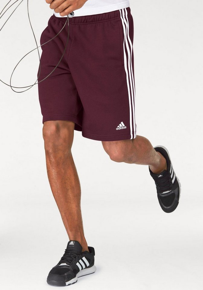 adidas Performance Shorts »ESSENTIALS 3S FRENCH TERRY SHORT« in bordeaux