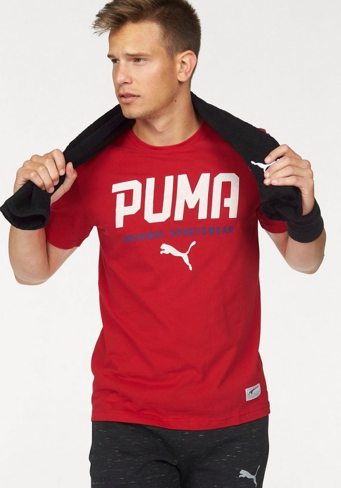 PUMA T-Shirt »STYLE TEC GRAPHIC TEE« in rot