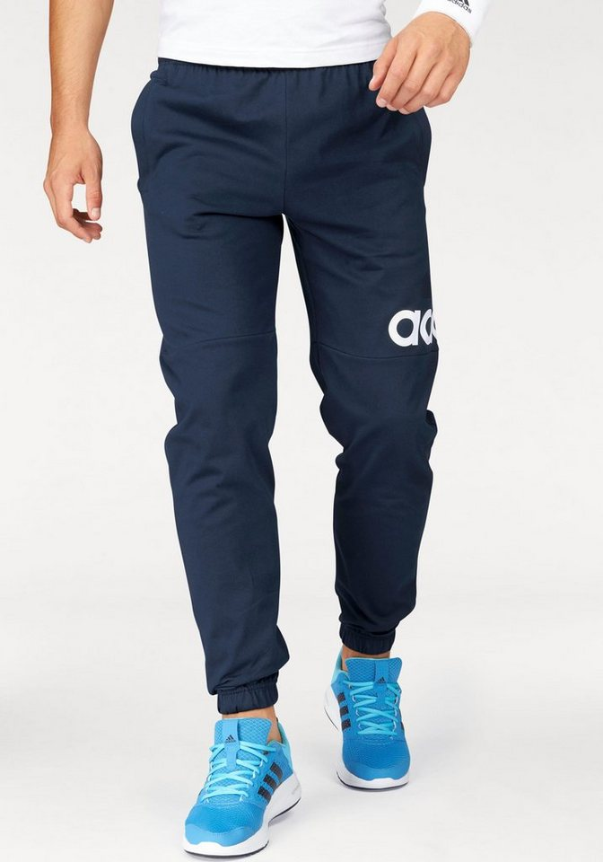 adidas Performance Jogginghose »ESSENTIALS PERFORMANCE LOGO TAPERED SINGLE JERSEY PANT« in marine