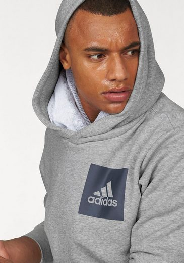 Adidas Performance Sweatshirt Essentials Chest Logo Pullover Fleece Hood