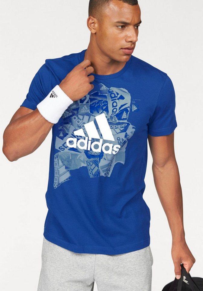 adidas Performance T-Shirt »BADGE OF SPORTS« in royalblau