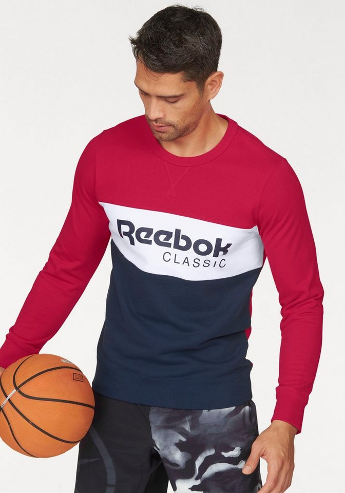 Reebok Sweatshirt »Archive Stripe Crew« in rot-marine