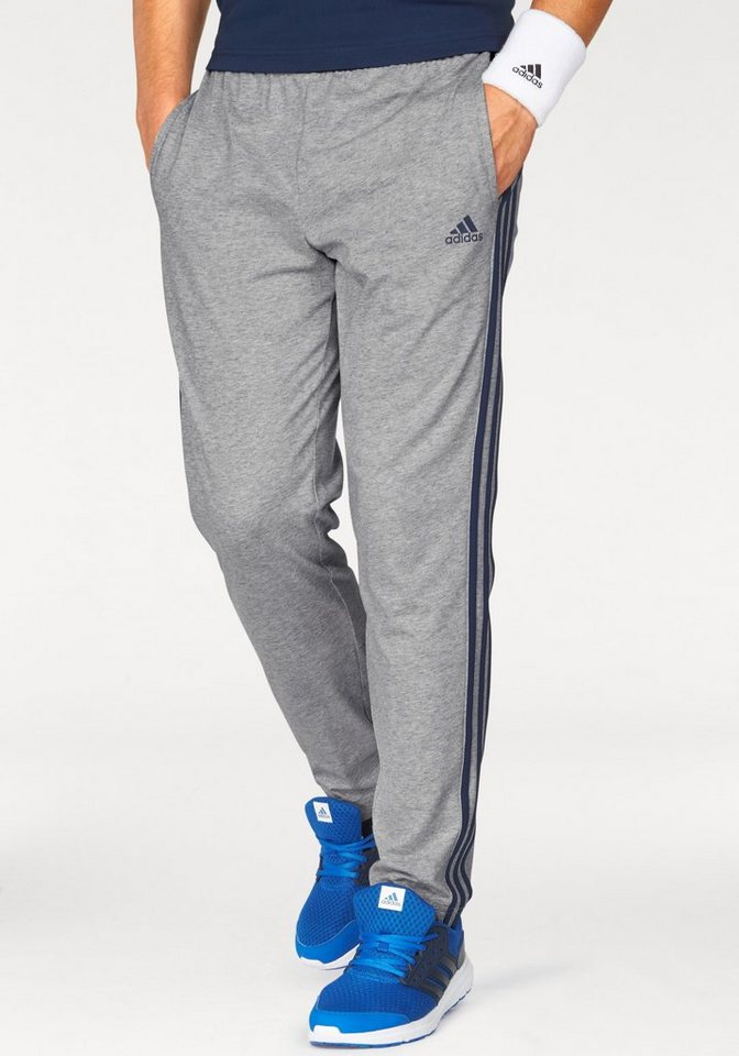 adidas Performance Jogginghose »ESSENTIALS 3S TAPERED SINGLE JERSEY PANT« in grau-marine