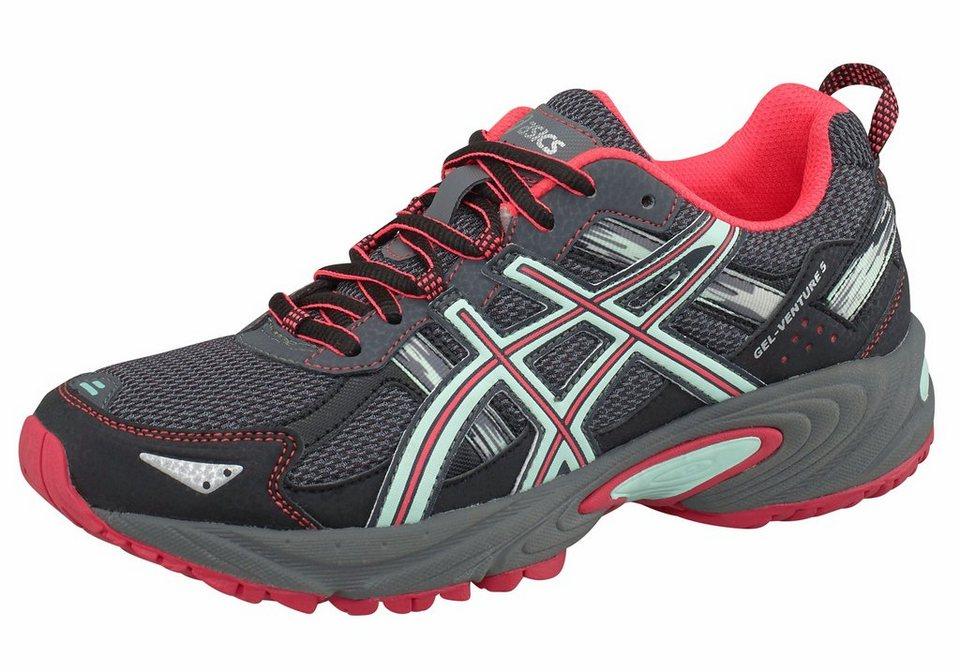 Asics »Gel-Venture 5« Laufschuh in schwarz-mint-rot