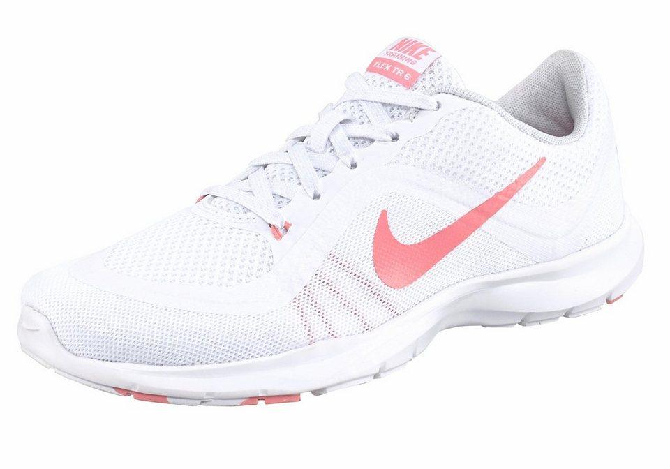 Nike »Wmns Flex Tr« Fitnessschuh in weiß-rosa