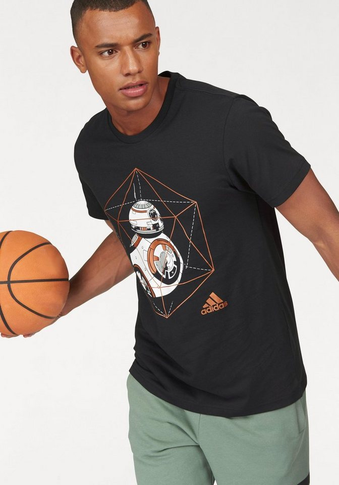adidas Performance T-Shirt »BB-8« in schwarz